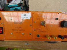 Unilab - Student Power Supply Regulated & Unregulated PSU - Used Condition. RRP £185.