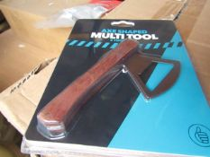 2x Axe Shaped Multi-Tool ( 5 Tools In 1 ) - New & Packaged.