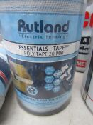 Rutland - Electro Poly Tape 20mm 200m Long - New & Packaged.