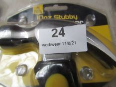 Tooltech - 10oz Stubby Claw Hammer - New & Packaged.