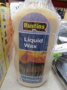 2x Rustins - Liquid Wax - 300ml Bottles - New & Packaged.