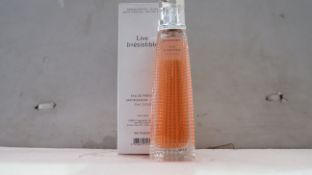 Givnechy Live Irrestible - 75ml bottle - New & Boxed - RRP £75