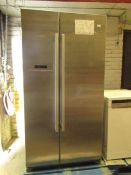 Bosch American Fridge Freezer, Tested working for coldness, small dent and blemish on the front