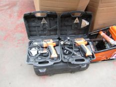 2x EV HEATGUN HDG200, 1x EV PILLAR DRILL HTC42I, This lot is a Machine Mart product which is raw and
