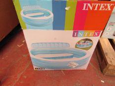 Intex - Swimming Pool - 2.29m x 2.18m x 79cm - Unchecked & Boxed.