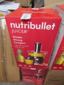 | 1x | NUTRIBULLET JUICER | PROFESSIONALLY REFURBISHED AND RE BOXED | NO ONLINE RESALE |RRP £99.