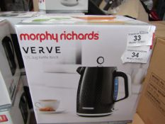 Morphy Richards Verve 1.7L jug kettle, brand new and in damaged packaging. RRP £42.99
