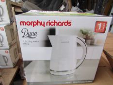 24x Morphy Richards Dune 1.7L white kettle, brand new and boxed. RRP £32.99, total lot RRP £791.76