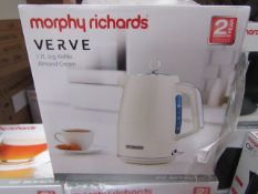 Morphy Richards Verve 1.7L jug cream kettle, brand new and boxed. RRP £42.99