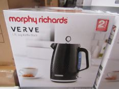 Morphy Richards Verve 1.7L jug black kettle, brand new and boxed. RRP £42.99