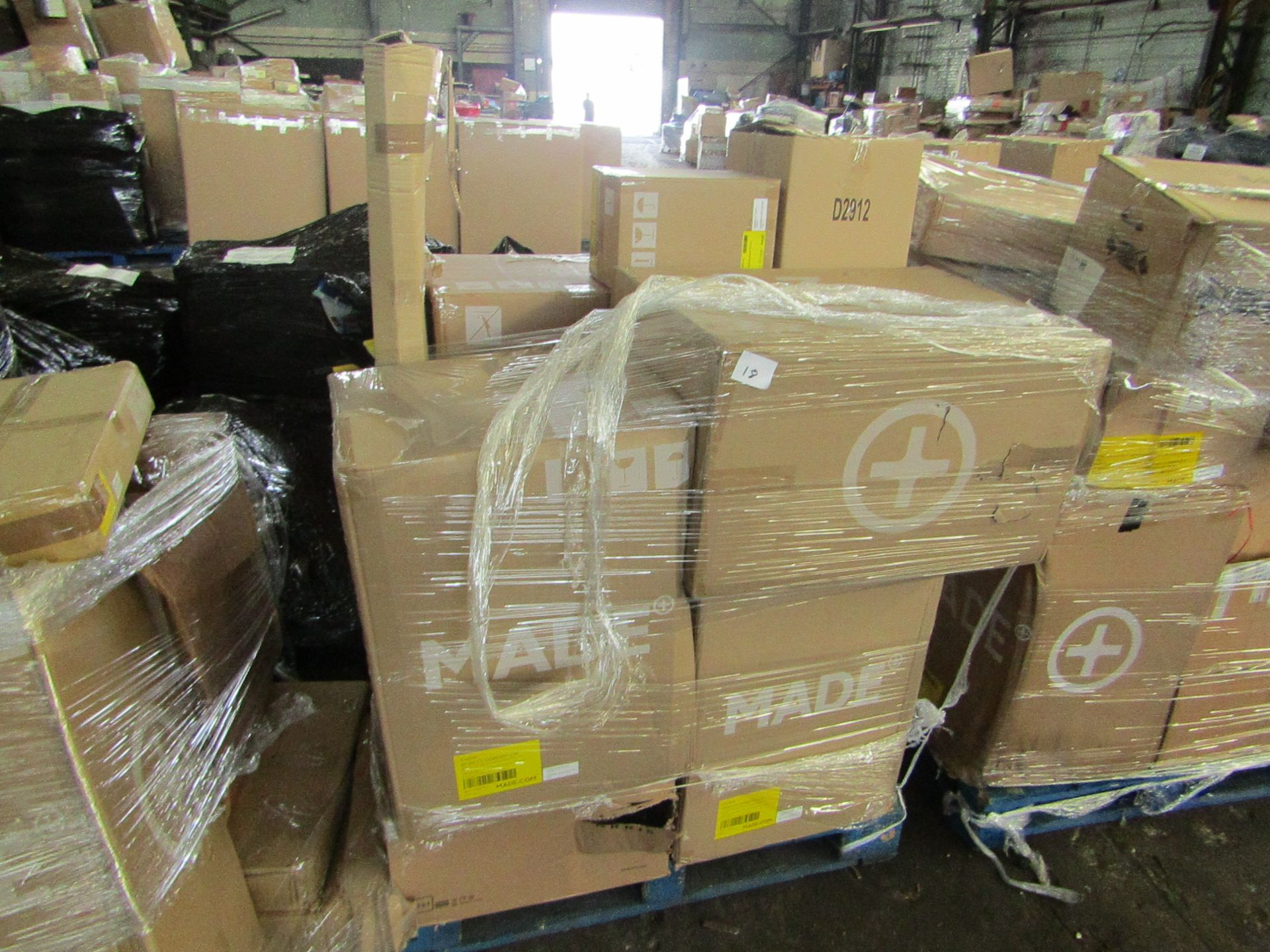 Mixed pallet of Made.com customer returns to include 10 items of stock with a total RRP of