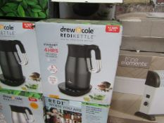   5X   DREW & COLE REDI KETTLE   UNCHECKED AND BOXED   NO ONLINE RESALE   RRP £69.99   TOTAL LOT RRP