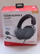 Hyper X Cloud Alpha 5 with 7.1 Surround Sound - Untested & Boxed - RRP £120