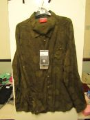 Craghopper Nosilife Lester woodland Print Shirt with with anti insect treatment built into the
