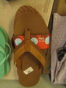 Flojos Mens Flip Flops, New, Size UK 12.
