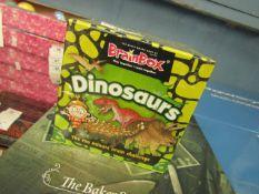 Brainbox - Dinosaur Ten Minute Brain Challenge Quiz Game - New & Packaged.