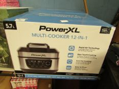   1X   POWERXL MULTICOOKER 12-IN-1   UNCHECKED & BOXED   NO ONLINE RESALE   SKU -   RRP œ179.99  