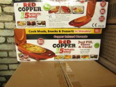   4X   RED COPPER 5 MINUTE CHEFS   UNCHECKED & BOXED   NO ONLINE RESALE   RRP £29.99   TOTAL LOT RRP