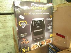   5X   POWER AIR FRYER 5.7L   UNCHECKED & BOXED   NO ONLINE RESALE   RRP £149.99   TOTAL LOT RRP £