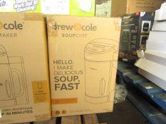   4X   DREW & COLE SOUP CHEFS   UNCHECKED & BOXED   NO ONLINE RESALE   RRP £59.99   TOTAL LOT RRP £