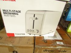   5X   TOSHIBA 2-SLICE STAINLESS STEEL TOASTER   UNCHECKED & BOXED   NO ONLINE RESALE   RRP £25  