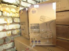   2X   VERTI STEAM IRONING SYSTEMS   UNCHECKED & BOXED   NO ONLINE RESALE   RRP £39   TOTAL LOT