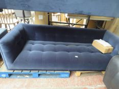 1 x Made.com Connor 3 Seater Sofa Navy Cotton Velvet RRP £699 SKU MAD-SOFCNR005BLU-UK TOTAL RRP £699
