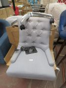 1 x Made.com Flynn Office Chair Persian Grey RRP £169 SKU MAD-CHAFLN066GRY-UK TOTAL RRP £169 This