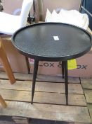   1X   COX & COX ROUND INDUSTRAIL SIDE TABLE - SMALL   NO VISIBLE DAMAGE   RRP £95  
