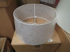 2x Chelsom - White Floor Effect Lamp Shades - 190mm Tall X 400mm Wide - Model No. QST   16  