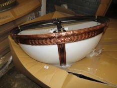 Chelsom - Large Domed Shaped Chandelier Vintage Copper Effect - 6 Bulb - Model No. AM   4260   400  