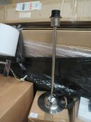 Chelsom - Domed Base Desk Lamp With Chrome Effect - E27 Bulb - ( No Shade Present) - Model No.