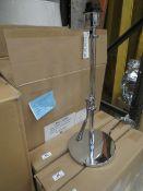 Chelsom - Angle Desk Lamp Chrome Effect - Model No. AL   52   DL   C   19289 - (No Shade
