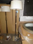 Chelsom - Square Chrome Style Floor Lamp - E27 Bulb - 1400mm Tall - (Has Been Paired With Non