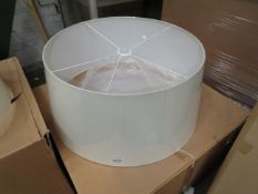 Chelsom - Extra Large Oyster White Lamp Shade - 310mm Tall X 700mm Wide - Model No. ZZ   14045   P  