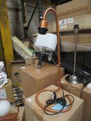 Chelsom - Copper Effect Desk Lamp - E27 Bulb - ( No Shade Present) - Model No. SR   15   TL   COPSAT