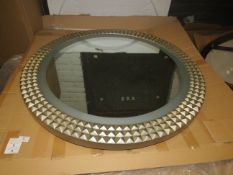 Chelsom - Large LED Mirror Textured Edge Design - Diamenter 930mm - Good Condition & Boxed.