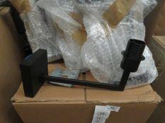 Chelsom - Wall Mounted Angle Light - Matt Black Effect - Model No. ZZ   12164   WL - E27 Bulb - Good