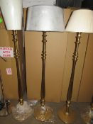 Chelsom - Vintage Style Gold Floor Lamp - E27 Bulb - 1300mm Tall - (Has Been Paired With Non