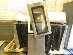 LG American Style Fridge Freezer, Doors are Unattached and one door has broken glass