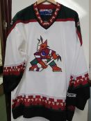 Vintage 90s CCM Phoenix Coyotes Ice Hockey Jersey size XL. This USA Shirt is over $99 online and
