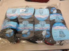 12 x pairs Mens Fresh Feel Diabetic Friendly Cotton Lycra Socks size 6-11 new & packaged