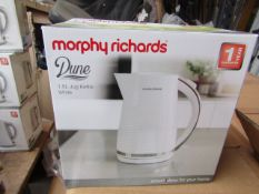 Morphy Richards Dune 1.7L white kettle, brand new and boxed. RRP £32.99