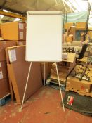Staples - Flipchart Easel Large Tripod Style Whiteboard - Good Condition & Boxed.
