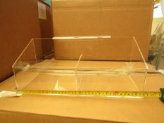 2x Spanx - Transparent Double Bin For Ladder ( 38cm Long X 15cm Tall X 15 Wide ) - Good Condition.