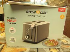   1x   DREW AND COLE RAPID 2 SLICE TOASTER   REFURBISHED AND BOXED   NO ONLINE RESALE   SKU -  