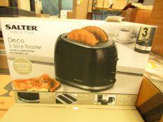 Salter - Deco 2-Slice Toaster - Stylish Design - Untested & Boxed.