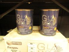 Glamour - Glaze Matt Paint (6x 750ml Per Box) - BBD 08-03-19 - Unused & Boxed.