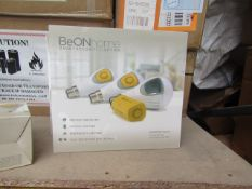 12x BeON Home smart light bulb starter pack includes 3 smart modules and 3 B22 LED bulbs, with a