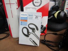 Phillips Sport Earhook Earbuds - Untestes & Boxed -